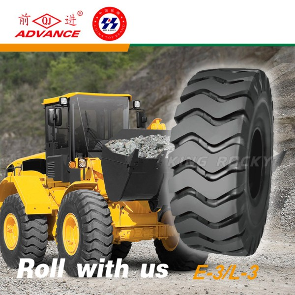 L3 E3 tire can withstand the burst pressure wheel loader rubber tire for sale 17.5-25
