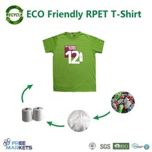 OEM Custom logo ECO Recycled PET fabric fashionable couple t-shirt