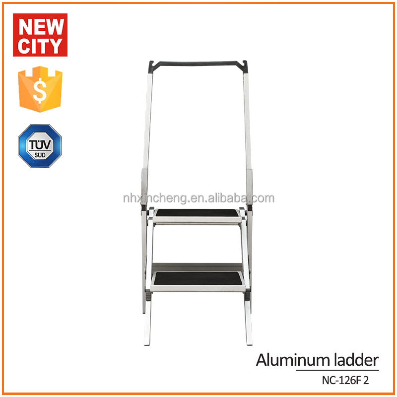 china supplier steel round tube step ladder