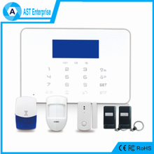 Touchpad Android IOS APP wireless GSM burglar alarm & 433/868Mhz RFID GSM home burglar alarm system with pet friendly pir