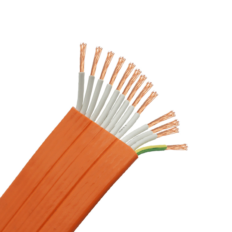 12 core 0.75mm2 <strong>H05VVH6</strong>-<strong>F</strong>/TVVB PVC Insulation Sheath Flexible elevator travelling flat cable
