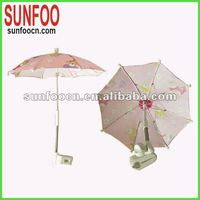 Clip on umbrella