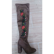 2017 Wholesale cheapest price sexy women beautiful knee boots