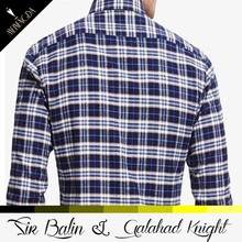 2016 new style casual fashionable 100% cotton custom cut and sew flannel gingham mens shirt with long sleeve