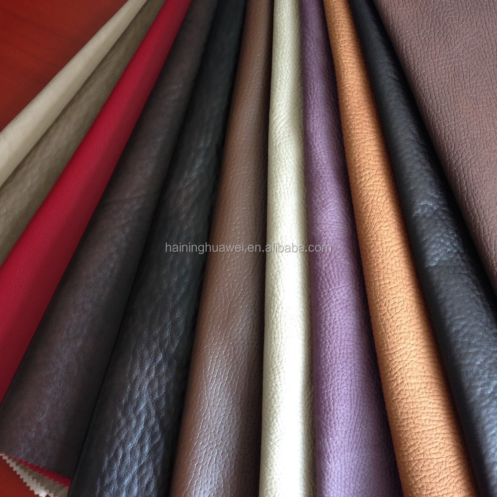 Sofa fabric PU Artificial leather/synthetic sofa leather bonding with fleece for America markets