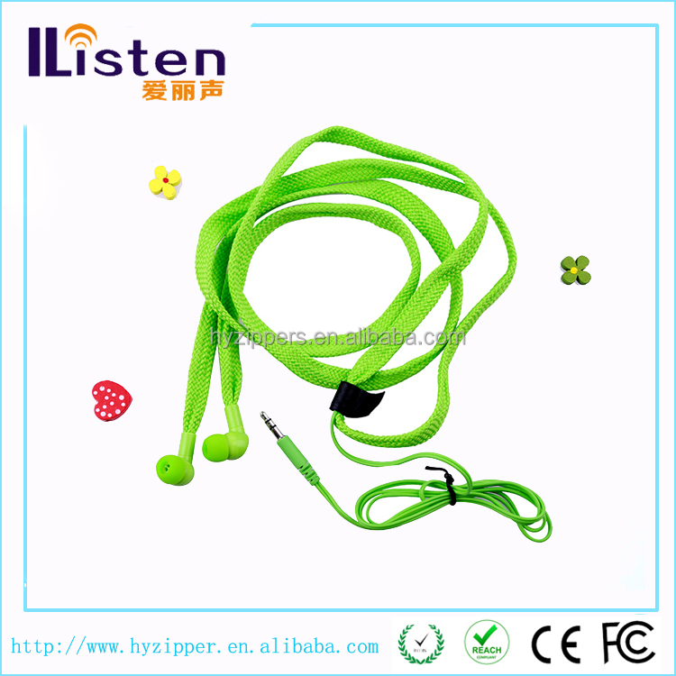 cheap waterproof shoelace earphone bulk cell phone accessory