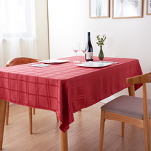 Wholesale 100% Polyester Rectangle Warm Colors Restaurant Table Cloths