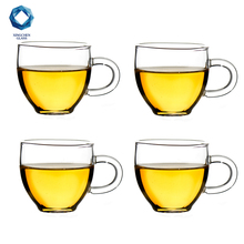 small glass tea cups with handle