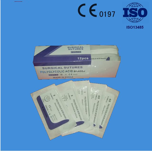 High quality sterile surgical sutures ( PGA /PDO VICRYL /CATGUT / NYLON /.SILK )