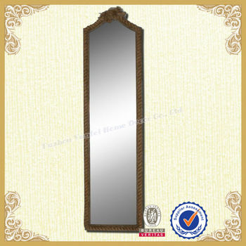Home standing dressing mirror with rope frame