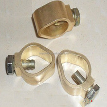 China supplier lightning protection earth rod clamp