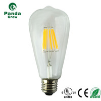 vintage cylinder A60 ST64 Sapphire filament dimmable led filament bulb