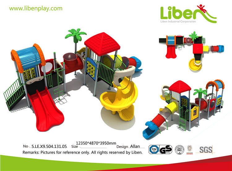 Liben children playground tunnel slides wholesale children outdoor playground euqipment