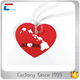 Heart shaped writable hard pvc luggage tag with plastic luggage tag strap