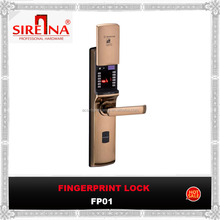 New biometric fingerprint door lock open by fingerprint,password and machenical key