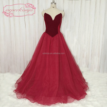 2018 Velvet Burgundy Prom Dresses Malaysia A Line Tulle Elegant Real Photo Prom Gown