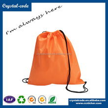 Non-woven Drawstring Backpacks Tote Carrier Bag With Zipper and Pocket