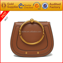2017 spring hot sales top quality leather fancy brand handbags for lady
