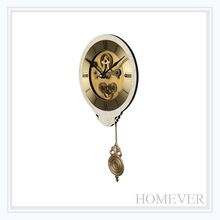modern style beautiful white wooden mdf pendulum wall clock