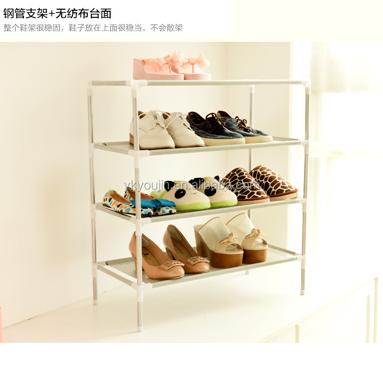 NEW 12 PAIR 4 TIER BOOT STORAGE SHELF SHOE RACK SHOES STAND ORGANIZER CUPBOARD