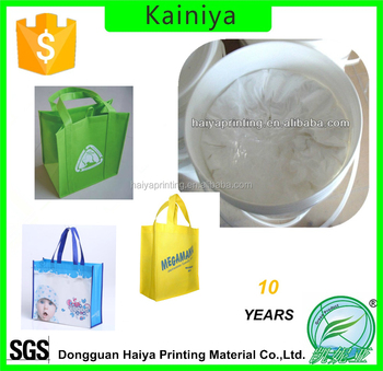 water based silk screen printing white rubber ink for nonwoven bag