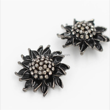 Black high-grade crystal diamond buttons for cloth / fur coat