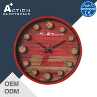 Promotion Plastic Analog Gift Wall Clock for Sale