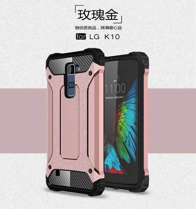 Shockproof Bumper Armor Dual Layer Case Cover For LG <strong>K10</strong>