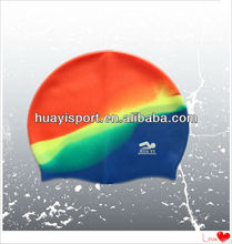 Colorful silicone water sport bubble swim cap