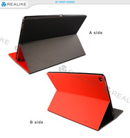 For apple ipad pro 12.9 inch flip cover, pu leather tablet case