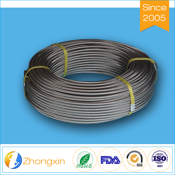 convoluted 1 2 inch stainless steel braided flexible teflon hose
