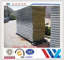 Fire Rate 75mm Rock wool sandwich panel/insulated sandwich panel/sandwich panel for storage from Alibaba Beijing China