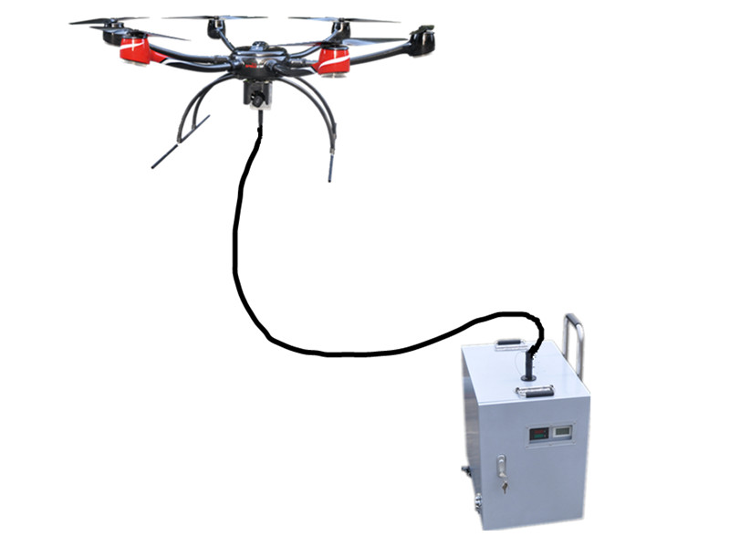 Tethered UAV System more than 8 hours long flight time