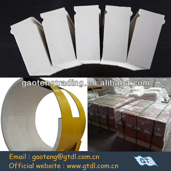 Al2O3>92% Wearable and long useful life high alumina lining blocks as ceramic grinding body
