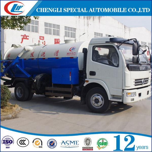 Cheap Price Vacuum Sewage Suction Tanker Truck High Pressure Sewage Suction and Cleaning Truck