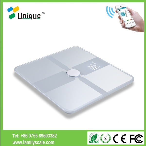 Bluetooth Body fat weighing Scale Measures Body Weight, Fat, Water, Muscle Mass, BMI, BMR(KCAL), Bone Mass and Visceral Fat