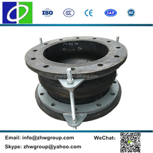 Vibration isolator flanged single sphere bellow rubber expansion joints