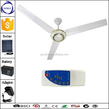 48inch/56inch solar ceiling fan with dc brushless fan motor 12v with remote controller