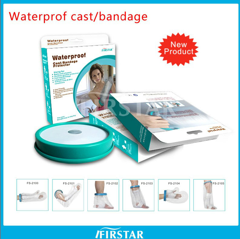 Waterproof cast covers bandage protector for arm and leg