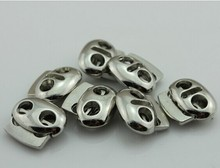 high quality two holes metal round cord stopper