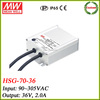 Meanwell HSG-70-36 72w led driver power supply 36v 2a