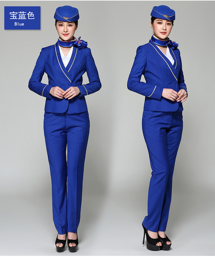 Juqian OEM factory price air hostess costume cotton asia air hostess airline flight attendants uniforms wholesale