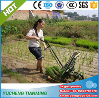 2016 new farm machine 2 rows manual rice transplanter