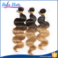 Premium Quality 100% Mink Two Tone Ombre Colored Hair Weave Bundles