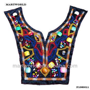 Ladies Kurta Embroidery Design Beaded NeckEmbroidery