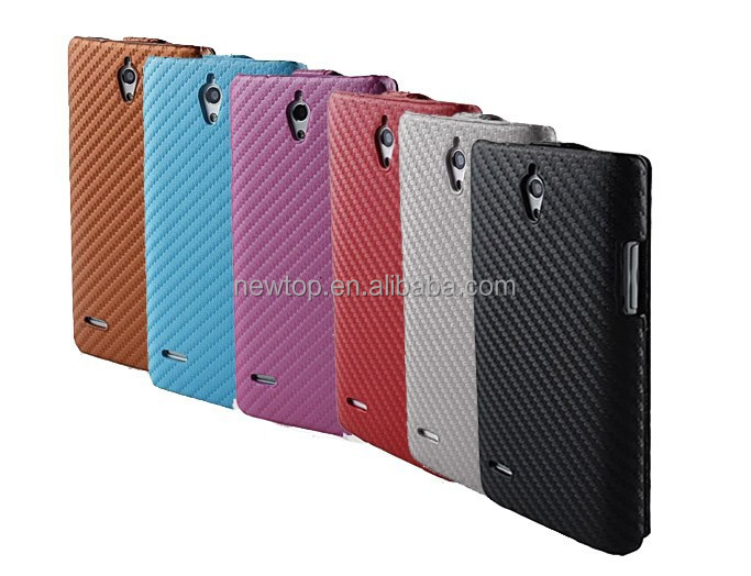 slimline Carbon fibre style flip cover case for Iphone 5 5s