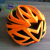 YSW Orange New Arrival MTB Cycling Bicycle ABS Safety Sport Helmet