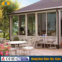 clear toughened glass for sunroom awning