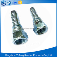 Stainless steel hydraulic hose sae flat seat fittings and metal joint
