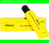 Universal all purpose clear fabric glue